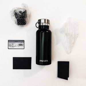 Prada Black/Silver 500ml Insulated Water Bottle